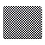 Sports Racing Chess Squares Black White Large Mousepads Front