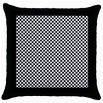 Sports Racing Chess Squares Black White Throw Pillow Case (Black) Front