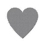 Sports Racing Chess Squares Black White Heart Magnet Front