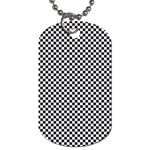 Sports Racing Chess Squares Black White Dog Tag (Two Sides) Front