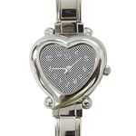 Sports Racing Chess Squares Black White Heart Italian Charm Watch Front