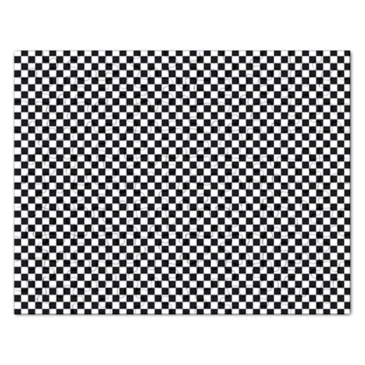 Sports Racing Chess Squares Black White Rectangular Jigsaw Puzzl