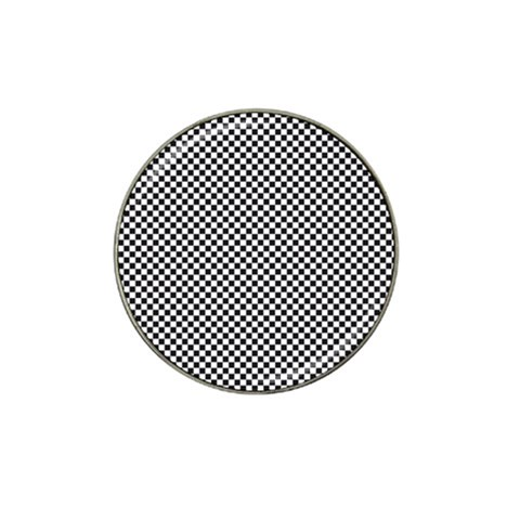 Sports Racing Chess Squares Black White Hat Clip Ball Marker
