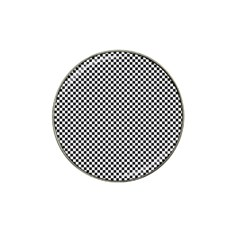 Sports Racing Chess Squares Black White Hat Clip Ball Marker (4 pack)