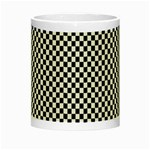 Sports Racing Chess Squares Black White Night Luminous Mugs Center