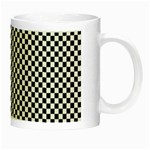 Sports Racing Chess Squares Black White Night Luminous Mugs Right