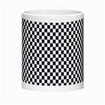 Sports Racing Chess Squares Black White Morph Mugs Center