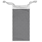 Sports Racing Chess Squares Black White Jewelry Bags Back
