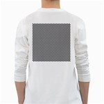 Sports Racing Chess Squares Black White White Long Sleeve T-Shirts Back