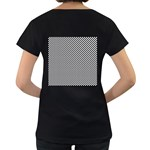 Sports Racing Chess Squares Black White Women s Loose-Fit T-Shirt (Black) Back