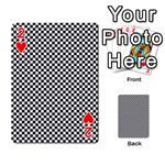 Sports Racing Chess Squares Black White Playing Cards 54 Designs  Front - Heart2