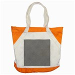 Sports Racing Chess Squares Black White Accent Tote Bag Front