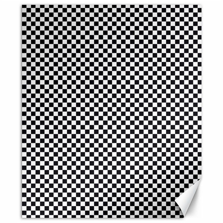 Sports Racing Chess Squares Black White Canvas 8  x 10