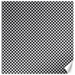 Sports Racing Chess Squares Black White Canvas 12  x 12   12 x12 Canvas - 1