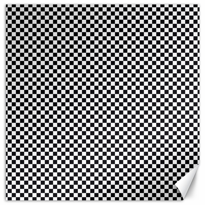Sports Racing Chess Squares Black White Canvas 20  x 20