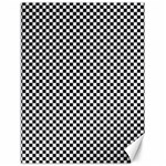 Sports Racing Chess Squares Black White Canvas 18  x 24   24 x18 Canvas - 1