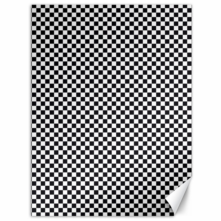 Sports Racing Chess Squares Black White Canvas 36  x 48