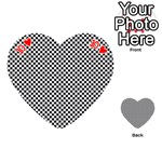 Sports Racing Chess Squares Black White Playing Cards 54 (Heart)  Front - Heart10