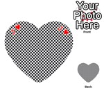 Sports Racing Chess Squares Black White Playing Cards 54 (Heart)  Front - HeartJ