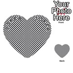 Sports Racing Chess Squares Black White Playing Cards 54 (Heart)  Front - Joker1