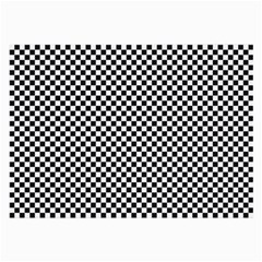 Sports Racing Chess Squares Black White Large Glasses Cloth (2-Side)