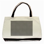 Sports Racing Chess Squares Black White Basic Tote Bag (Two Sides) Back
