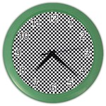 Sports Racing Chess Squares Black White Color Wall Clocks Front
