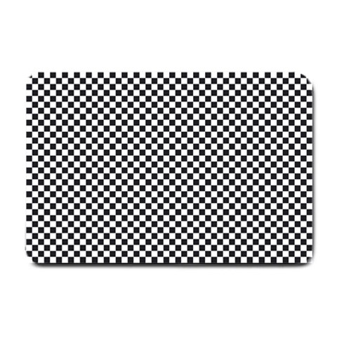 Sports Racing Chess Squares Black White Small Doormat