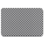 Sports Racing Chess Squares Black White Large Doormat  30 x20 Door Mat - 1