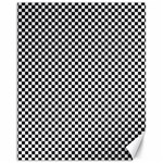Sports Racing Chess Squares Black White Canvas 11  x 14   14 x11 Canvas - 1