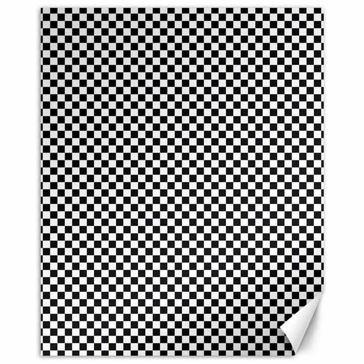 Sports Racing Chess Squares Black White Canvas 11  x 14