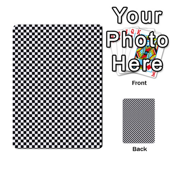 Sports Racing Chess Squares Black White Multi-purpose Cards (Rectangle)