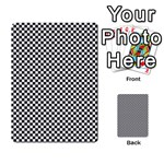 Sports Racing Chess Squares Black White Multi-purpose Cards (Rectangle)  Back 3