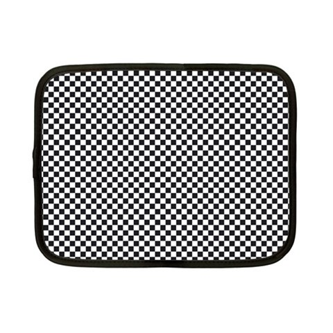 Sports Racing Chess Squares Black White Netbook Case (Small)