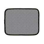 Sports Racing Chess Squares Black White Netbook Case (Small)  Front