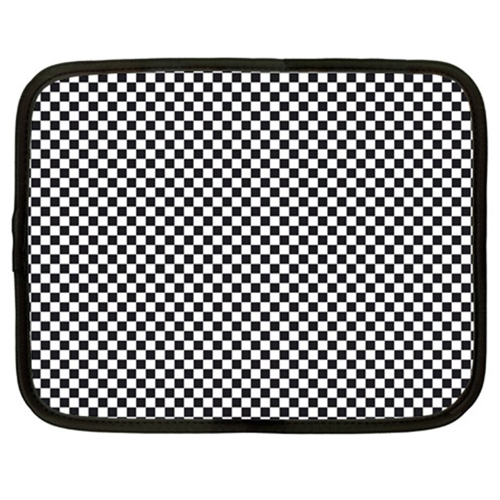 Sports Racing Chess Squares Black White Netbook Case (Large)