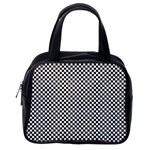 Sports Racing Chess Squares Black White Classic Handbags (2 Sides) Back