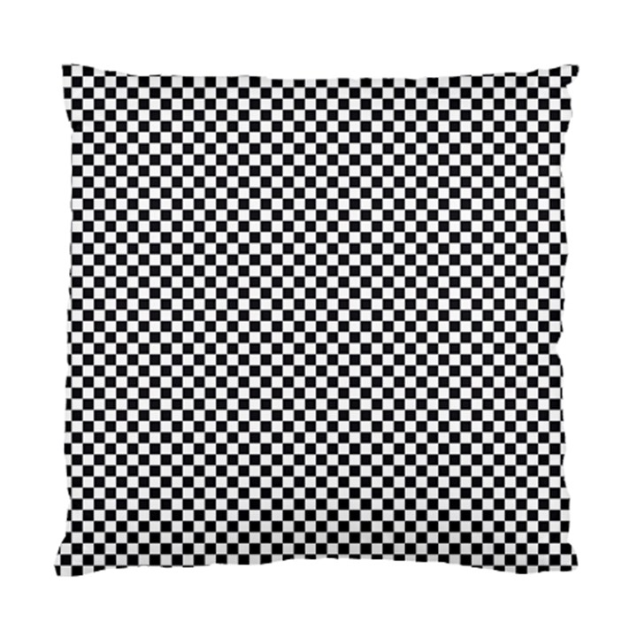 Sports Racing Chess Squares Black White Standard Cushion Case (Two Sides)