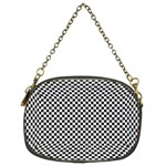 Sports Racing Chess Squares Black White Chain Purses (Two Sides)  Back