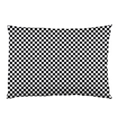 Sports Racing Chess Squares Black White Pillow Case