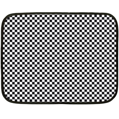 Sports Racing Chess Squares Black White Fleece Blanket (Mini)