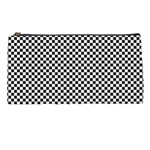 Sports Racing Chess Squares Black White Pencil Cases Front