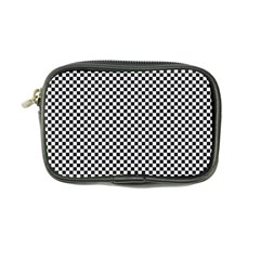 Sports Racing Chess Squares Black White Coin Purse