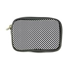 Sports Racing Chess Squares Black White Coin Purse Front