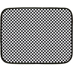 Sports Racing Chess Squares Black White Double Sided Fleece Blanket (Mini)