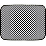 Sports Racing Chess Squares Black White Double Sided Fleece Blanket (Mini)  35 x27 Blanket Back