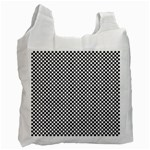 Sports Racing Chess Squares Black White Recycle Bag (Two Side)  Front