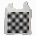 Sports Racing Chess Squares Black White Recycle Bag (Two Side)  Back