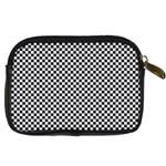 Sports Racing Chess Squares Black White Digital Camera Cases Back