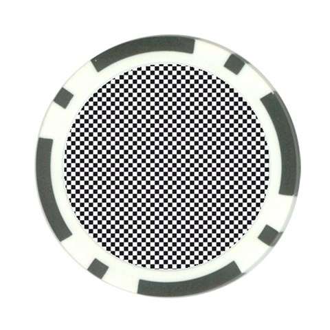 Sports Racing Chess Squares Black White Poker Chip Card Guards (10 pack)